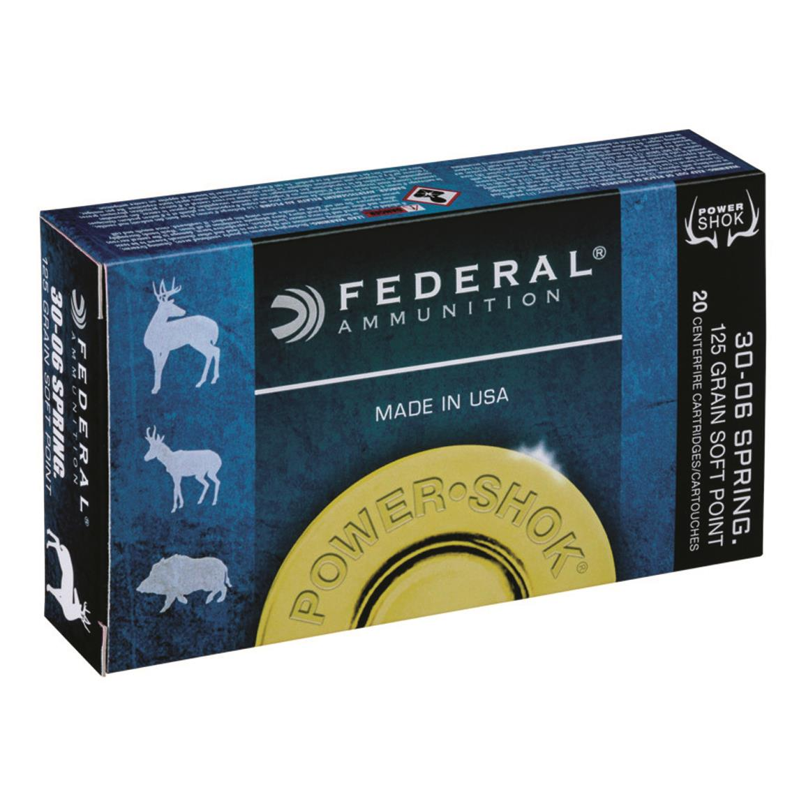 Federal Power-Shok 7mm Win. Short Mag, SP, 150 Grain, 20 Rounds