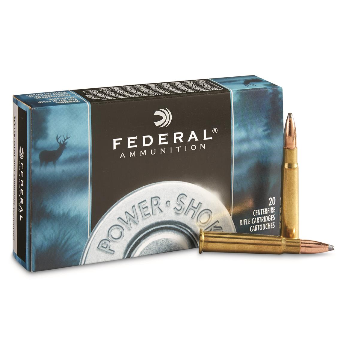Federal Power-Shok, .303 British, SHCSP, 180 Grain, 20 Rounds