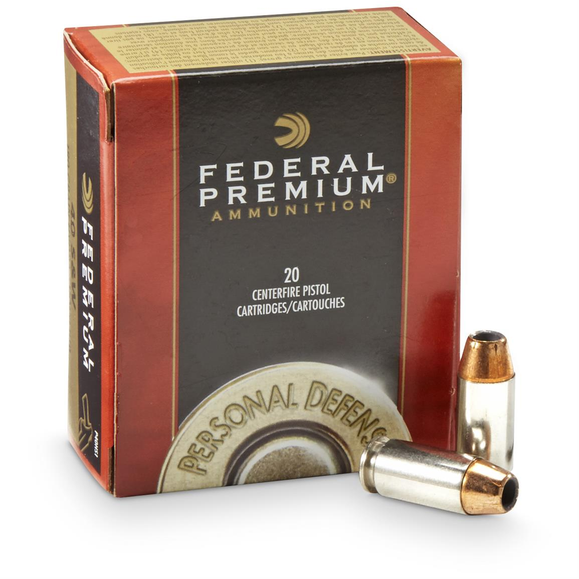 Federal Premium Hydra-Shok, .40 Smith & Wesson, HSJHP, 180 Grain, 20 Rounds