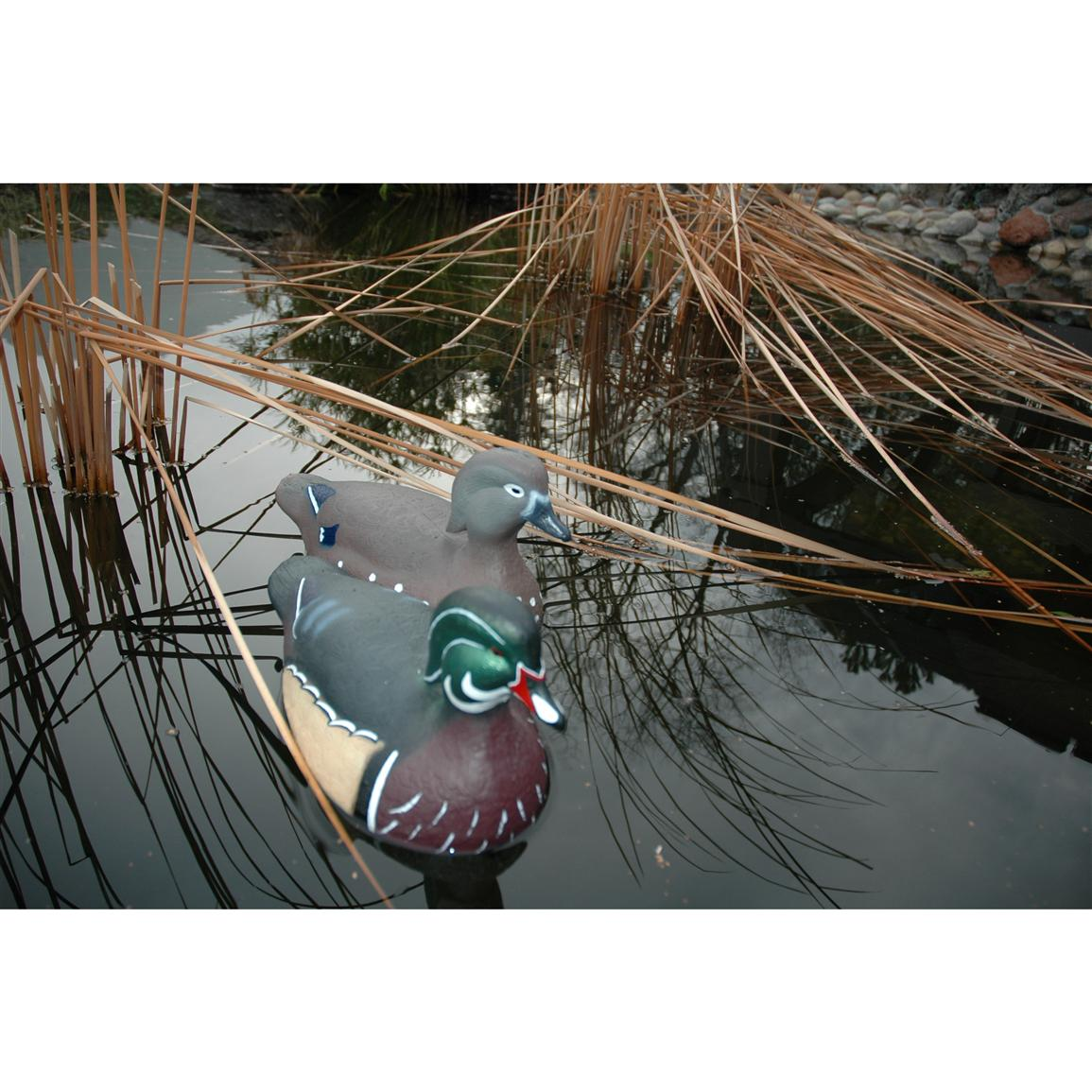TangleFree Floating Wood Duck Decoys, 12-Pk.