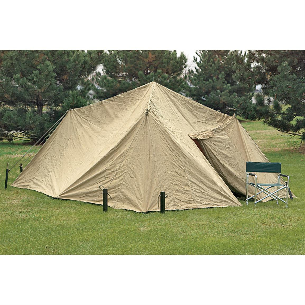 New russian military 4 wall canvas tent 97595 tents for Canvas wall tent reviews