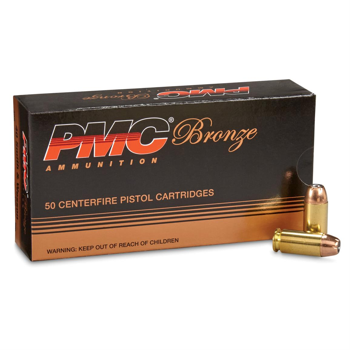 PMC Bronze, .40 Smith & Wesson, JHP, 165 Grain, 250 Rounds