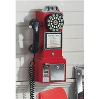 Crosley Classic 1950s Pay Phone, Red