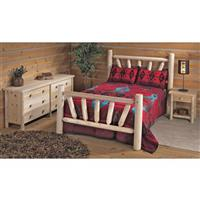 Rustic Natural Cedar Furniture Company® Queen Cedar Log Bed