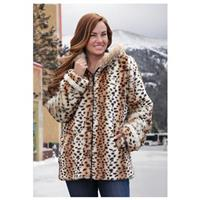 Women's Guide Gear Trailite Snowflake Jacket, Cheetah