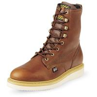 "Men's Justin 8"" Premium Wedge Sole Work Boots, Tan"