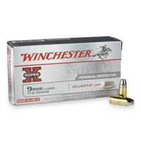 Winchester Super-X, 9mm Luger, STHP, 115 Grain, 50 Rounds