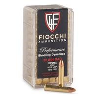 50 rounds Fiocchi Performance .22 Win. Mag. 40 Grain JSP Ammo