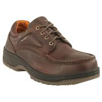 Men's Florsheim Steel Toe Eurocasual Moc Toe Oxford Work Shoe, Dark Brown