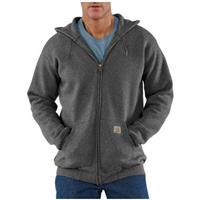 Carhartt® Midweight Hooded Zip-Front Sweatshirt, Charcoal