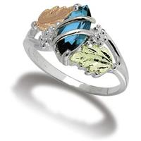 Women's Landstrom's Sterling Silver Genuine Blue Topaz Ring