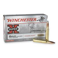 Winchester® Super-X® Rifle, 8mm Mauser, 170 Grain, PP, 20 Rounds