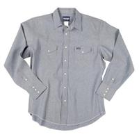 Men's Wrangler® Cowboy Cut Solid Twill Work Shirt in Chambray