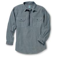 Key Industries® Long-sleeved Western Logger Shirt, Hickory Stripe