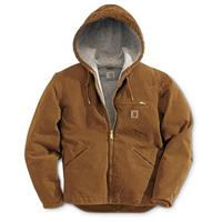 Carhartt Sandstone Sierrra Hooded Workwear Jacket, Brown
