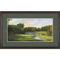 """Late Day on #3"" Lithograph By Donny Finley Signed Limited Edition, Brazillian Walnut Frame"