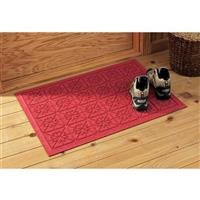 Water-trapping Commercial Grade Doormat, Red