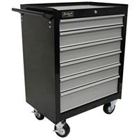 "Homak SE Series 27"" 6-Drawer Rolling Cabinet, Black / Gray"