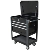 "Homak SE Series 35"" 4-Drawer Service Cart, Black"