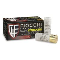 "Fiocchi, Nickel-plated, 12 Gauge, 2 3/4"" 9-pellet, Low Recoil No. 00 Buckshot, 10 Rounds"