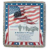 "Soldier's Prayer 50x60"" Personalized Throw"