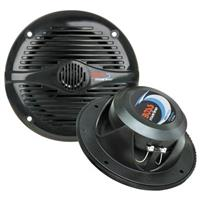 "Boss Marine MR60W 5 1/4"" 2-way Marine Speakers, Black"