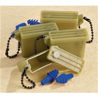4 Pairs New U.S. Military Surplus G.I. Earplugs with Case