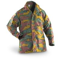 Used Belgian Military Surplus Field Jacket, Camo