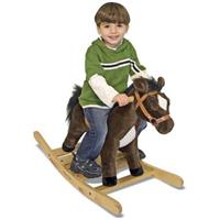 Melissa and Doug® Rock and Trot Plush Rocking Horse