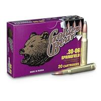 Golden Bear, .30-06, SP, 168 Grain, 240 Rounds