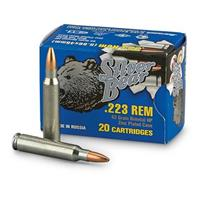 Silver Bear, .223 Remington, HP, 62 Grain, 240 Rounds