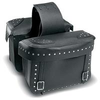 Carroll Large Throw Over Saddlebags with Nickel Nail Heads and Box Top Lid