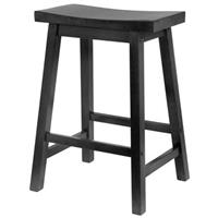 "Winsome Black Saddle Seat 24"" Counter Stool"