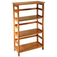 "Winsome 42"" Home Office 4-Tier Bookshelf"