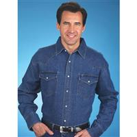 Men's Ely Cattleman® Long-sleeve Denim Western Shirt