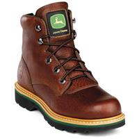 "Men's John Deere® 6"" Lace-Up Work Boots, Brown Walnut"