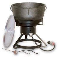 "King Kooker® 17 1/2"" Outdoor Propane Cooker with 10-Gallon Cast Iron Pot"