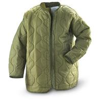 3 New U.S. Military Parka Liners, Olive Drab