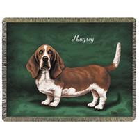 A Plus® Personalized Basset Hound Throw