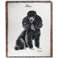 A Plus® Personalized Black Poodle Throw