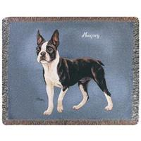 A Plus® Personalized Boston Terrier Throw