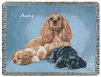 A Plus® Personalized Cocker Spaniel Throw