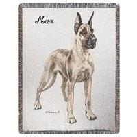 A Plus® Personalized Great Dane Throw