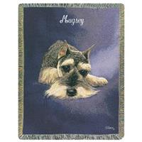 A Plus® Personalized Schnauzer Throw