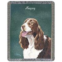A Plus® Personalized Springer Spaniel Throw