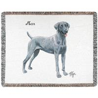 A Plus® Personalized Weimaraner Throw