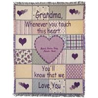 A Plus® Personalized Grandmother Throw