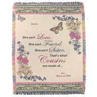 A Plus® Personalized Cousin Throw