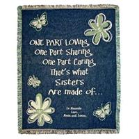 A Plus® Personalized Sister Butterfly Throw