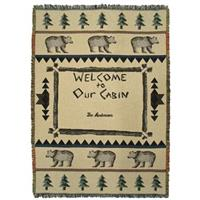 "A Plus® Personalized ""Welcome To Our Cabin"" Throw"